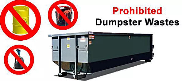 Prohibited Dumpster Waste
