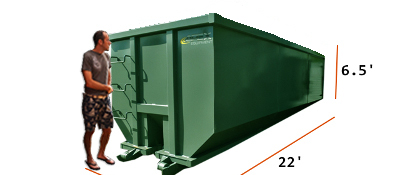 30 yard dumpster dimensions