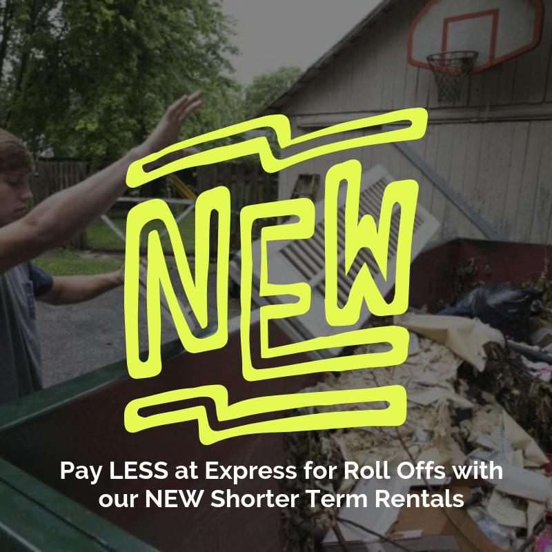 express roll off lowers dumpster rental prices