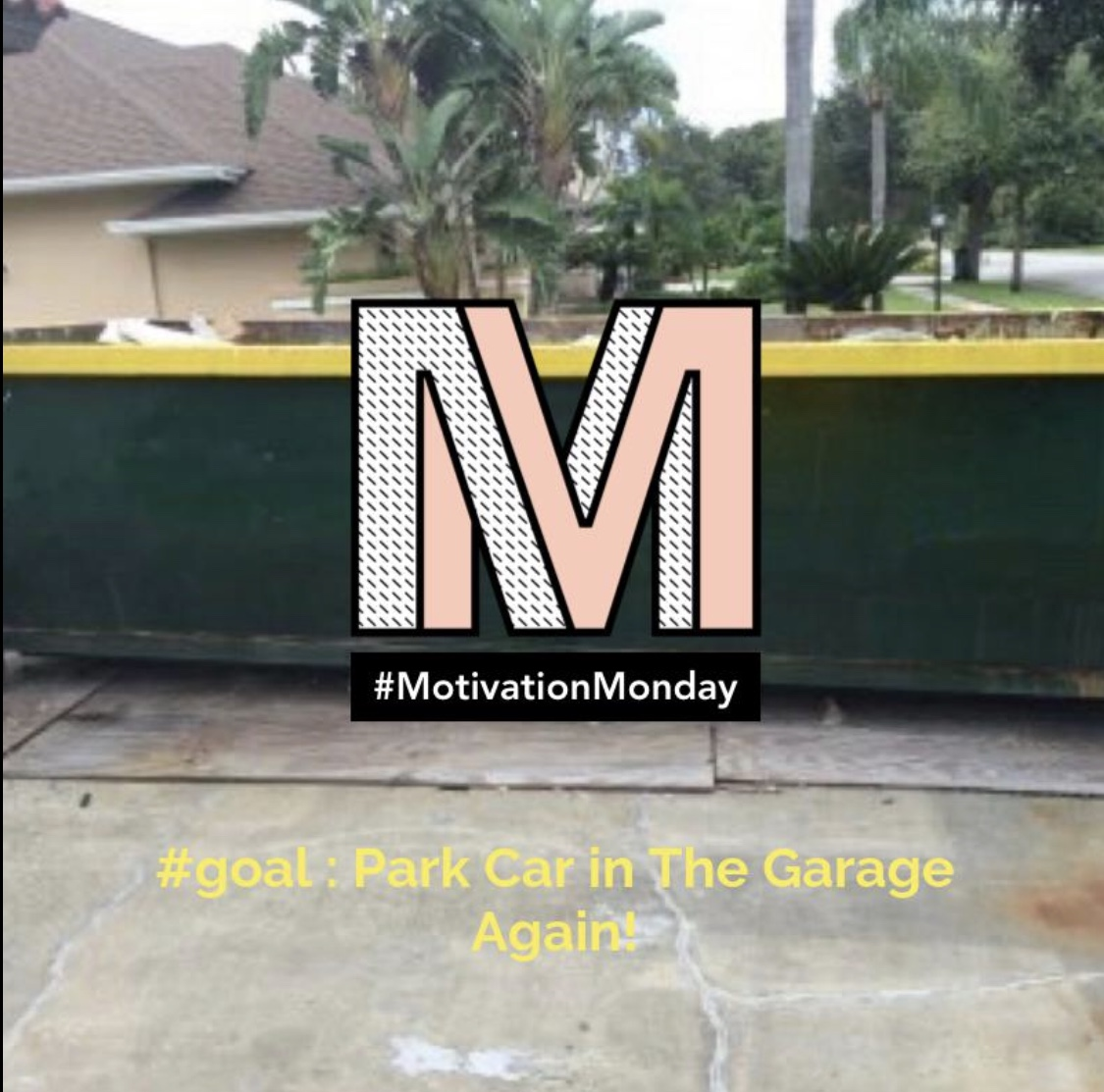 dumpster meme about garage palm bay fl