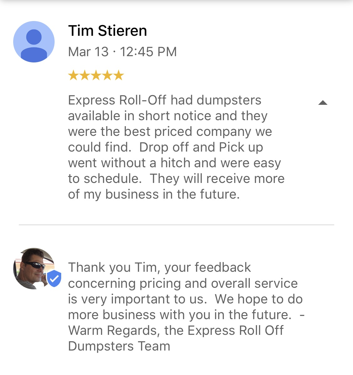 express roll off dumpster rental palm bay fl reviews