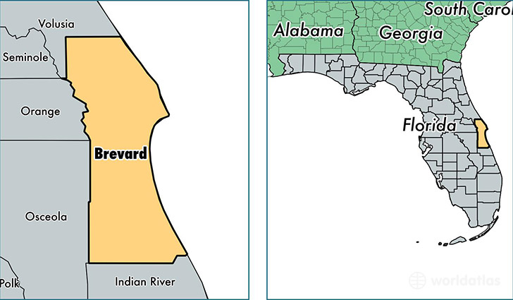 brevard county florida map