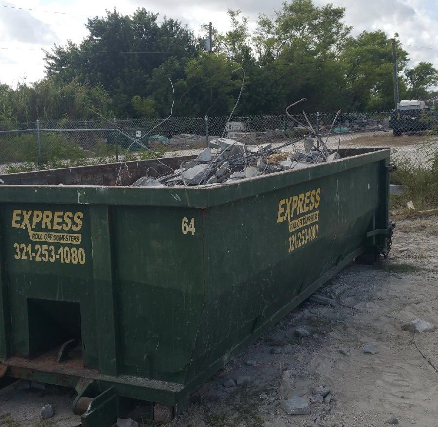 concrete roll off dumpster rental palm bay fl