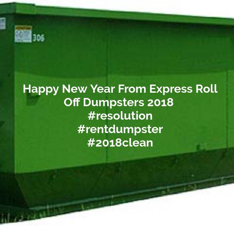 15 yard new year's dumpster