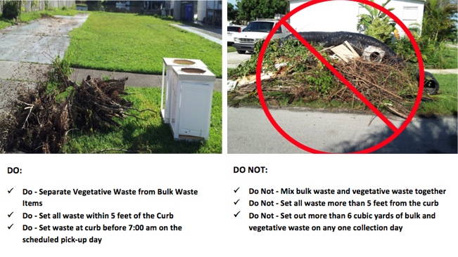 how to dispose of vegetative debris